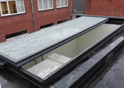 Sliding glass-roof-top , Hasselt Belgium