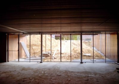 Stainless steel sliding door, Golf, Heusden, Belgium